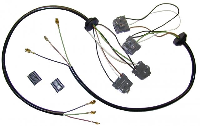 corvette harness set wire headlamp bucket extension pair. Black Bedroom Furniture Sets. Home Design Ideas
