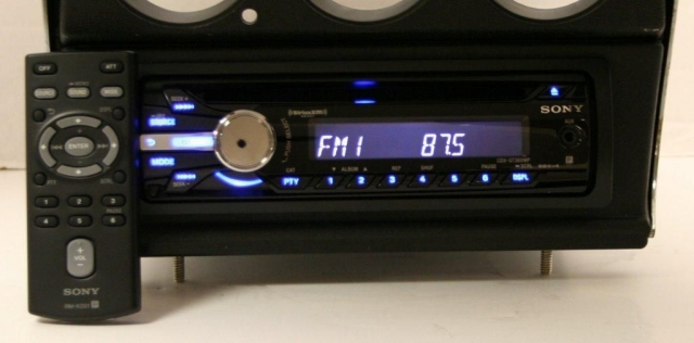 electrical wiring parts corvette radio and bezel sony with cd player 68 71