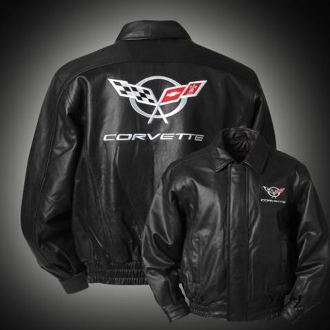 2005 Corvette For Sale >> Corvette Jacket Leather Black C5 Bomber ( #E15543 ...