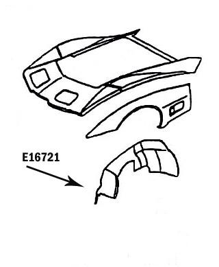 Corvette Skirt Inner Hand Layup Left Hand 80 82 E16721
