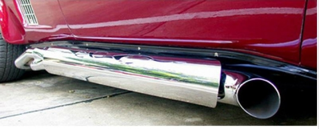 Corvette Shield Side Exhaust Polished Stainless Steel With