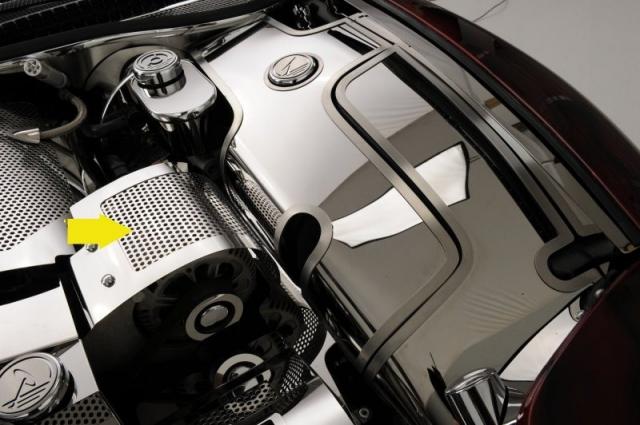 Corvette Cover Alternator Perforated Stainless Steel 99 04 ...