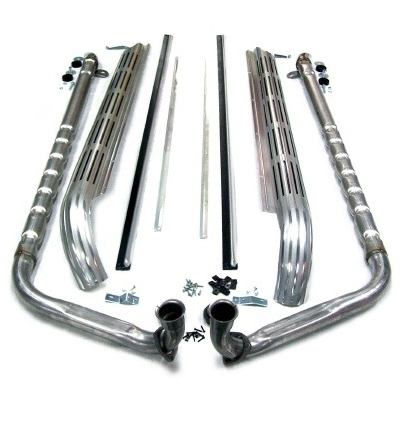 Exhaust System Side Aluminized 2 Inch Small Block 327 63 67 on c3 corvette side exhaust
