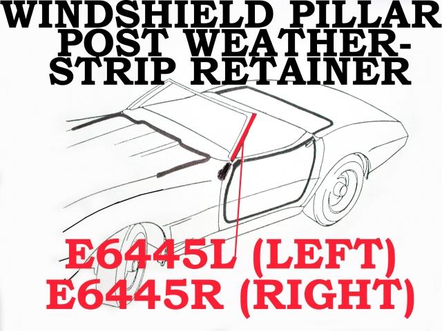 1968-1982 Corvette Windshield Post Weatherstrip Retainer Seal Foam