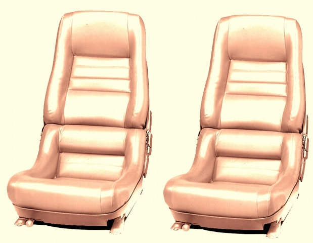 Corvette Cover Seat Leather Like Mounted On Foam 2 Inch