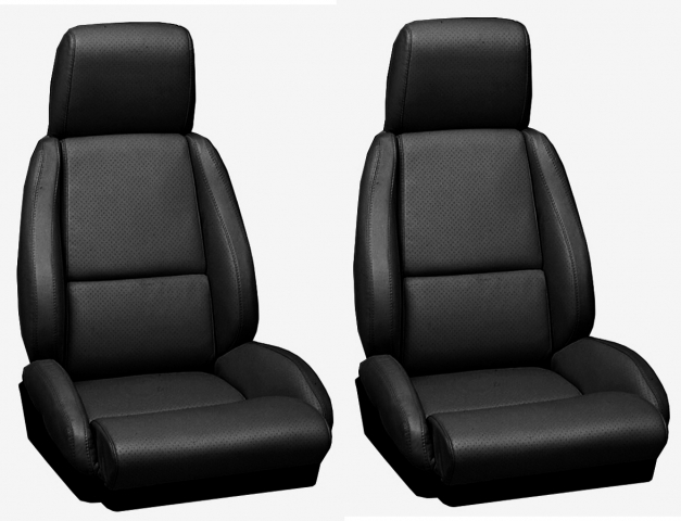 Corvette Cover Seat Leather Standard With Perforations 84