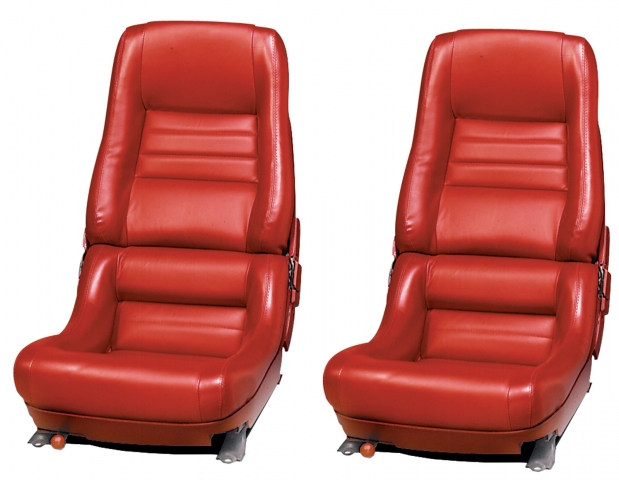 Corvette Cover Seat Leather Vinyl 2 Inch Bolster 78 Pace