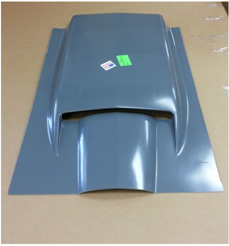 Corvette Scoop Hood Hand Layup 427 Big Block 67 E16805