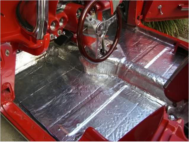 Corvette Insulation Floor Pan Hushmat 56 62 E20625