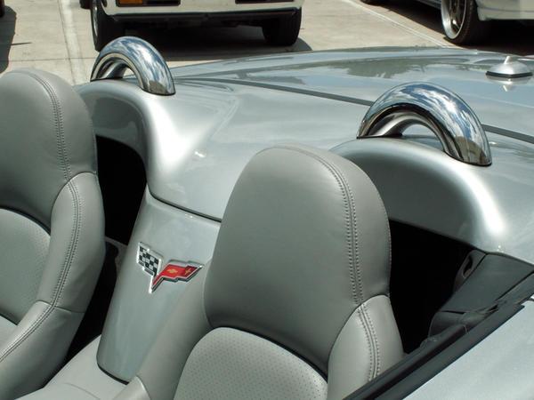 Corvette Roll Bars Faux Hoops Convertible Pair 05 13