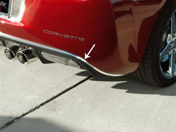 Corvette Trim Rear Valance Chrome 05 13 E21572