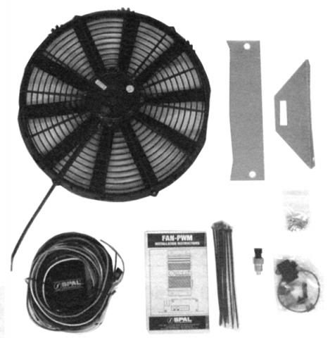 corvette fan kit radiator 16 inch small block 63 72. Black Bedroom Furniture Sets. Home Design Ideas