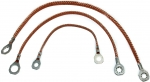 74613 GROUND STRAP SET-ALL WITH POWER ANTENNA-3 PIECES-81-82
