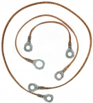 74614 GROUND STRAP SET-ALL WITH OUT POWER ANTENNA-3 PIECES-81-82