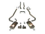 100000 EXHAUST SYSTEM-MAGNAFLOW-DELUXE-2 TO 2.5 INCH-SMALL BLOCK-327/350-AUTOMATIC-68-72