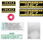 13071 DECAL KIT-ENGINE COMPARTMENT-300 H.P.-327 TURBO FIRE-62