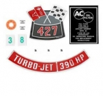 13078 DECAL KIT-ENGINE COMPARTMENT-390 HP-66