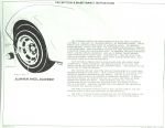 13559 INSTRUCTIONS-WITH ALUMINUM WHEELS-FOR GLOVE BOX OWNERS MANUAL-76-78