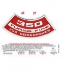 13703 DECAL KIT-ENGINE COMPARTMENT-350 HP-69