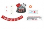 13704 DECAL KIT-ENGINE COMPARTMENT-390 HP-69