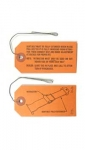 48071 TAG SET-SEAT BELT RETRACTOR INSTALLATION INSTRUCTIONS-W/ ATTACHING WIRE-2 PIECES-65-66