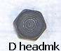 5067 BOLT-FOR SIDE CLIPS AND FRONT BRAKE BLOCK-63-67