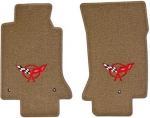 E6654R MAT SET-FLOOR-LLOYD'S ULTIMATS-EMBROIDERED APPLIQUE RED C5 LOGO-COLORS-PAIR-97-04