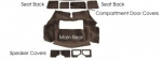 E10022 CARPET SET-REAR-CUT PILE-WITH PAD-WITH 2 DOOR REAR COMPARTMENT-79L