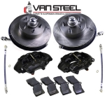 E10864 BRAKE KIT-CONVERSION-DISC BRAKES-FRONT-COMPLETE PACKAGE-63-64