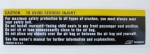 E11346 DECAL-SUN VISOR AIR BAG WARNING-90-96