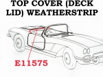 E11575 WEATHERSTRIP-TOP COVER (DECK LID)-CORRECT-USA-61-62