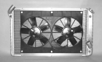 E11633 RADIATOR AND FAN COMBINATION-ALUMINUM-AUTOMATIC-73-76