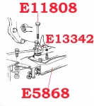 E11808 BOLT SET-TRANSMISSION MOUNT CUSHION TO TRANSMISSION MOUNT BRACKET ATTACHING-6 PC-56-62