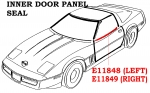 E11848 SEAL-INNER DOOR PANEL-USA-LEFT-90-96