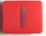 E12083 BEZEL-SEAT BACK RELEASE-RED-00-04