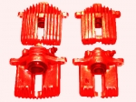 E12821S CALIPER SET-BRAKE-REBUILT-RED-EXCHANGE-4 PIECES-84-87