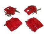 E12822S CALIPER SET-BRAKE-REBUILT-RED-EXCHANGE-4 PIECES-88-96