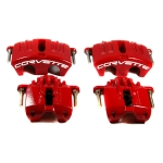 E12824S CALIPER SET-BRAKE-REBUILT-RED-EXCHANGE-4 PIECES-05-12