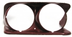 E13133 BEZEL-HEADLAMP-DIE CAST-WITH PROVISION FOR HEADLAMP WASHERS-USED-LEFT-69-71