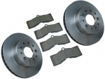 E13168 ROTOR SET-BRAKE-FRONT-2 ROTORS-WITH 4 PADS-65-82