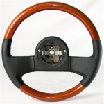 E13319 WHEEL-STEERING-WOOD AND LEATHER-84-89