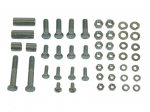 E13383 BOLT KIT-FRONT LICENSE BUMPERETTE-WITH SPACER-48 PIECES-58-62