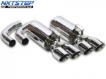E13437 EXHAUST-NXTSTEP POLISHED T304 STAINLESS STEEL-305 INCH DUAL WALL TIPS-CAT BACK-84-85