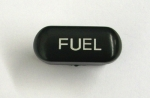E13473 BUTTON-FUEL-BLACK WITH WHITE LETTERS-94-96