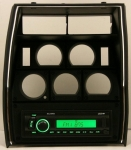 E13525 RADIO AND PLASTIC BEZEL-MILENNIA-WITH USB & AUX PORT-NO CD PLAYER-78-80
