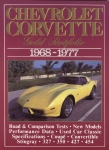 E14512 BOOK-CHEVROLET CORVETTE:GOLD PORTFOLIO-68-77