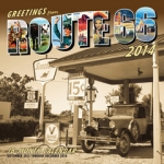 E14594 CALENDAR-GREETINGS FROM ROUTE 66-SPECIAL PROMOTION-2014