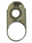 E14726 BEZEL-STEERING COLUMN-ON DASH CHROME-53-57