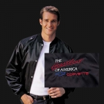 E15540 JACKET-SATIN-BLACK-HEARTBEAT OF AMERICA