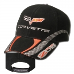 E15683 CAP-C6-Z06 CORVETTE CHECKERBOARD STRIPE-BLACK